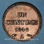 Coins 2e république (1848-1852). 1 centime 1848A