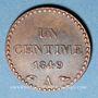 Coins 2e république (1848-1852). 1 centime 1849A