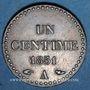 Coins 2e république (1848-1852). 1 centime 1851A