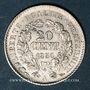 Coins 2e république (1848-1852). 20 centimes 1850A