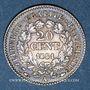 Coins 2e république (1848-1852). 20 centimes 1851A