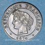 Coins 3e république (1870-1940). 1 centime Cérès, 1874A