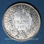Coins 3e république (1870-1940). 1 franc Cérès, 1872K