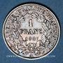 Coins 3e république (1870-1940). 1 franc Cérès, 1887A