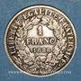 Coins 3e république (1870-1940). 1 franc Cérès 1888 A
