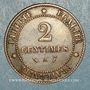 Coins 3e république (1870-1940). 2 centimes Cérès, 1889A