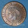 Coins 3e république (1870-1940). 2 centimes Cérès, 1892A