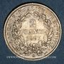 Coins 3e république (1870-1940). 2 francs Cérès, 1887A