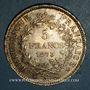 Coins 3e république (1870-1940). 5 francs Hercule 1875A. Grand A