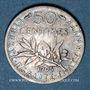 Coins 3e république (1870-1940). 50 centimes Semeuse 1905
