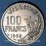 Coins 4e république (1947-1959). 100 francs Cochet 1958 B
