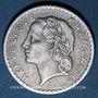 Coins 4e république (1947-1959). 5 francs Lavrillier aluminium 1950 B