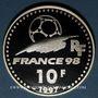 Coins 5e république (1959- ). 10 francs 1997. Coupe du Monde de Football, 1998 - Allemagne