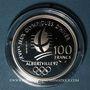 Coins 5e république (1959-). 100 francs 1989 J.O. Albertville 1992. Ski alpin