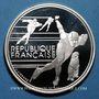 Coins 5e république (1959-). 100 francs 1990 J.O. Albertville 1992. Patinage de vitesse