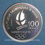 Coins 5e république (1959-). 100 francs 1990 J.O. Albertville 1992. Slalom moderne