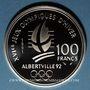 Coins 5e république (1959-). 100 francs 1991 J.O. Albertville 1992. Saut à ski moderne / Belle Epoque