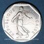 Coins 5e république (1959- ). 2 francs Semeuse 1991. 2 511 ex!