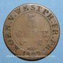 Coins Allemagne. Royaume de Westphalie. Jérôme Napoléon (1807-1813). 5 centimes 1809C. Cassel