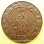 Coins Allemagne, Westphalie, Jérôme Napoléon (1807-13), 3 cmes 1810C Cassel