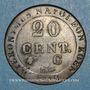 Coins Allemagne. Westphalie. Jérôme Napoléon (1807-1813). 20 cmes 1812C Cassel
