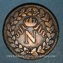 Coins Cent Jours. Napoléon I. 2e Blocus Strasbourg 1815. 1 décime 1815BB. Points après DECIME et 1815
