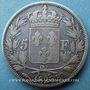Coins Charles X (1824-1830). 5 francs 1826 BB. Strasbourg