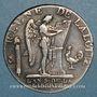 Coins Constitution (1791-1792). 1/2 écu de 3 livres type FRANCOIS 1793A. 1er semestre
