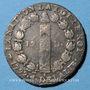 Coins Constitution (1791-1792). 12 deniers 1792A, an 4. Type FRANCOIS. Léopard à droite et lyre