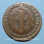 Coins Constitution (1791-1792). 6 deniers 1792 BB. Strasbourg. Type FRANCAIS. Cuivre