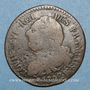 Coins Constitution (1791-1792). 6 deniers 1792BB. Strasbourg. Type FRANCAIS. Cuivre
