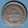 Coins Consulat (1799-1804). 1 décime an 9G. Genève