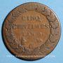 Coins Consulat (1799-1804). 5 centimes an 9G. Genève