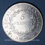 Coins Consulat (1799-1804). 5 francs 1er Consul an 12A