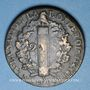 Coins Convention (1792-1795). 2 sols 1793AA. Metz. Type FRANCOIS