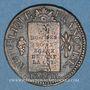 Coins Convention (1792-1795). Sol aux balances 1793BB Strasbourg. MdC rougeâtre !