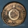 Coins Convention (1792-1795). Sol aux balances, type FRANCOISE 1793MA. Marseille