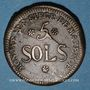 Coins Convention. Siège de Mayence. 5 sols 1793