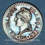 Coins Directoire (1795-1799). 1 centime an 6A. 53 perles à l'avers et 50 au revers