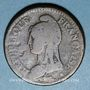 Coins Directoire (1795-99). UN décime, modification du 2 DECIMES avec S effacé an 4A