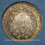 Coins Gouvernement de Défense Nationale (1870-1871). 1 franc Cérès 1871K. Bordeaux