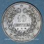 Coins Gouvernement de défense nationale (1870-1871). 10 cmes 1870A. Petit A