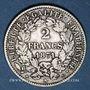 Coins Gouvernement de Défense Nationale (1870-1871). 2 francs avec légende. 1871A. Petit A