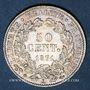 Coins Gouvernement de défense nationale (1870-1871). 50 centimes Cères, 1871K. Bordeaux