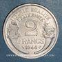 Coins Gouvernement provisoire (1944-1947). 2 francs Morlon aluminium 1944