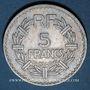 Coins Gouvernement provisoire (1944-1947). 5 francs Lavrillier aluminium 1946C