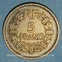 Coins Gouvernement provisoire (1944-1947). 5 francs Lavrillier bronze d'aluminium 1945