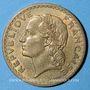 Coins Gouvernement provisoire (1944-1947). 5 francs Lavrillier bronze d'aluminium 1946