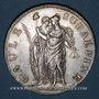 Coins Italie. Gaule Subalpine (1800-1802). 5 francs an 10 (= 1802). Turin