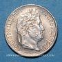 Coins Louis-Philippe (1830-1848). 1/2 franc 1835A. Variété avec le chiffre 5 de la date plus petit